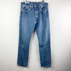 Levi's 501 Classic Button Fly Straight Leg Jeans